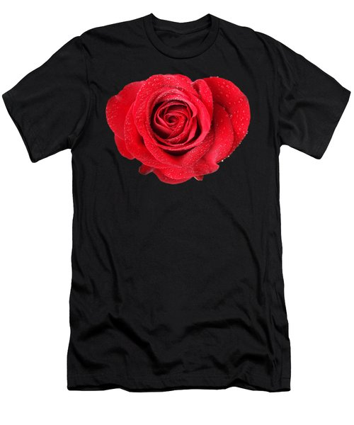 Rose Hearts Men's T-Shirt (Athletic Fit)