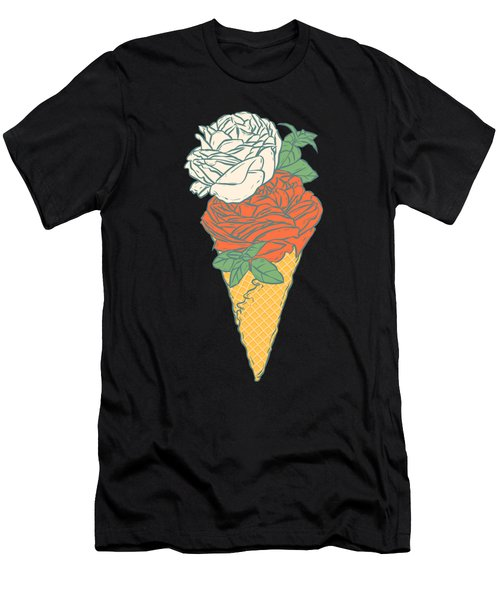 Rose Ice Cream Men's T-Shirt (Athletic Fit)