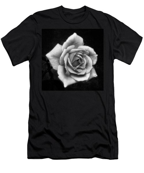 Rose In Mono. #flower #flowers Men's T-Shirt (Athletic Fit)