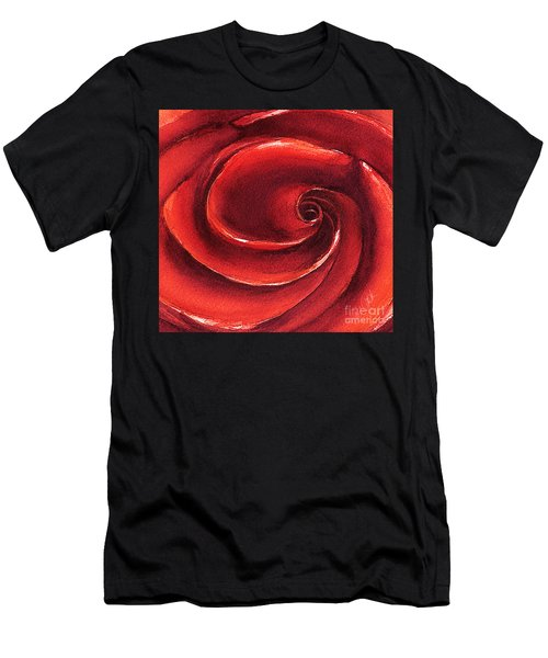 Rose In Stone Men's T-Shirt (Athletic Fit)
