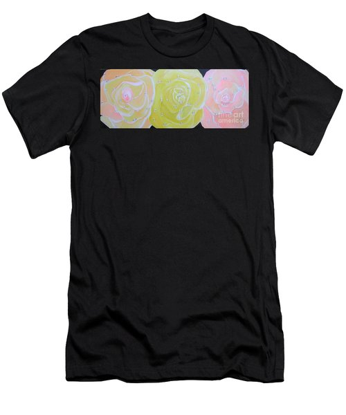 Rose Medley With Dewdrops Men's T-Shirt (Athletic Fit)