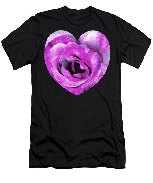 Rose Nepenthe Heart Men's T-Shirt (Athletic Fit)