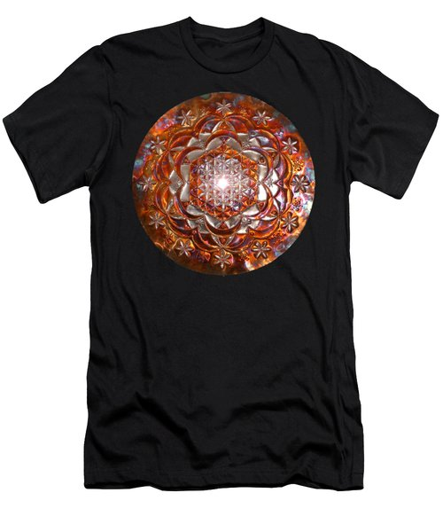 Men's T-Shirt (Athletic Fit) featuring the sculpture Rose Of Life Copper Lightmandala by Robert Thalmeier