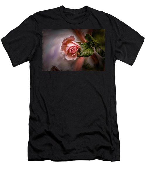 Rose On Paint #g5 Men's T-Shirt (Athletic Fit)
