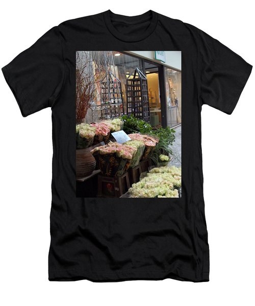 Rose Stand Men's T-Shirt (Slim Fit) by Catherine Alfidi