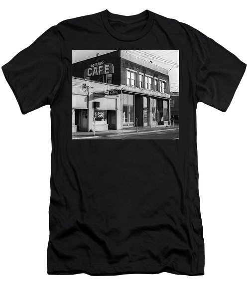 Men's T-Shirt (Athletic Fit) featuring the photograph Rosebud Cafe, Roseburg, Oregon by Frank DiMarco