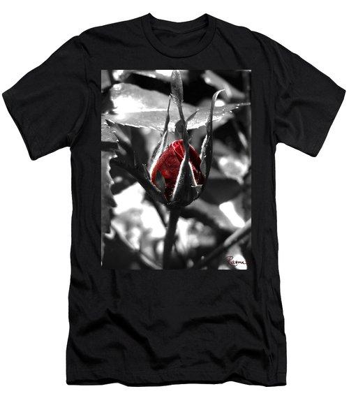 Rosebud Red Men's T-Shirt (Athletic Fit)