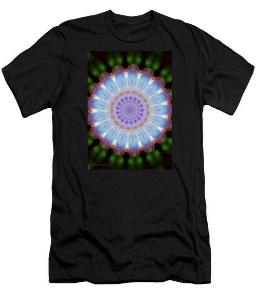 Rosepetals Mandala Men's T-Shirt (Slim Fit)
