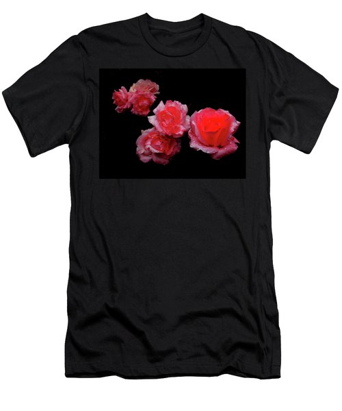 Roses And Rain Men's T-Shirt (Athletic Fit)