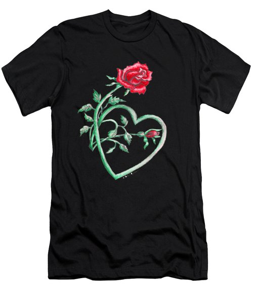 Roses Hearts Lace Flowers Transparency       Men's T-Shirt (Athletic Fit)