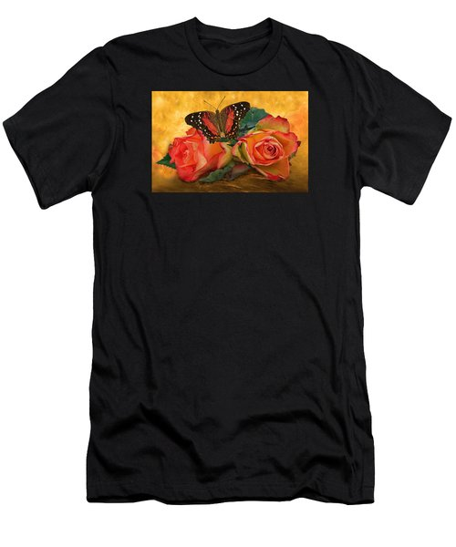 Roses In Golden Light 2 Men's T-Shirt (Athletic Fit)