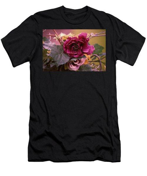 Roses In Oils Men's T-Shirt (Athletic Fit)