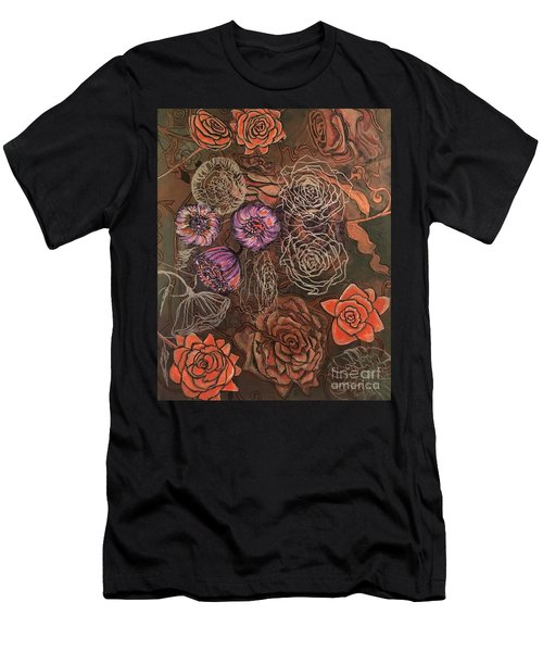 Roses In Time Men's T-Shirt (Athletic Fit)