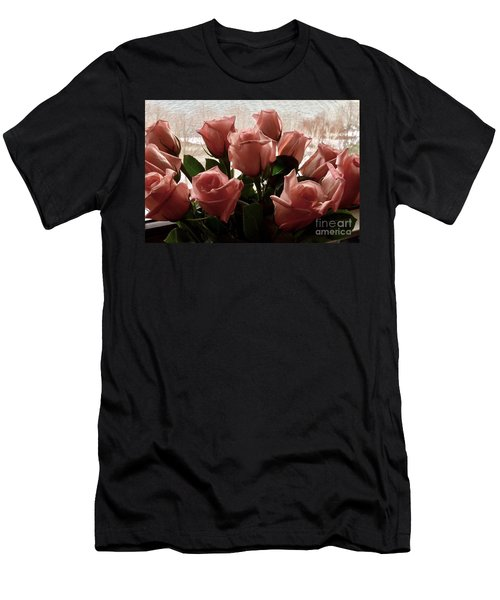Roses With Love Men's T-Shirt (Athletic Fit)