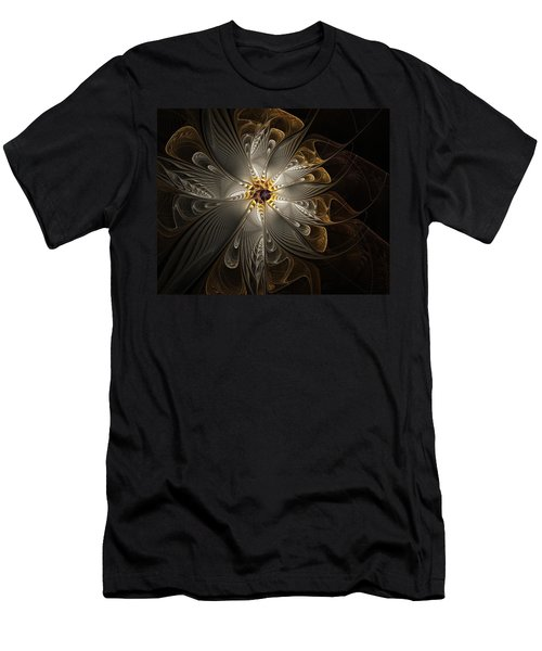 Rosette In Gold And Silver Men's T-Shirt (Athletic Fit)