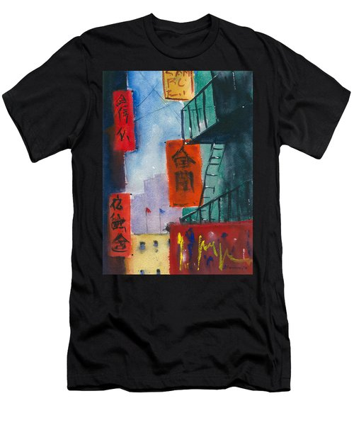 Ross Alley, Chinatown Men's T-Shirt (Athletic Fit)