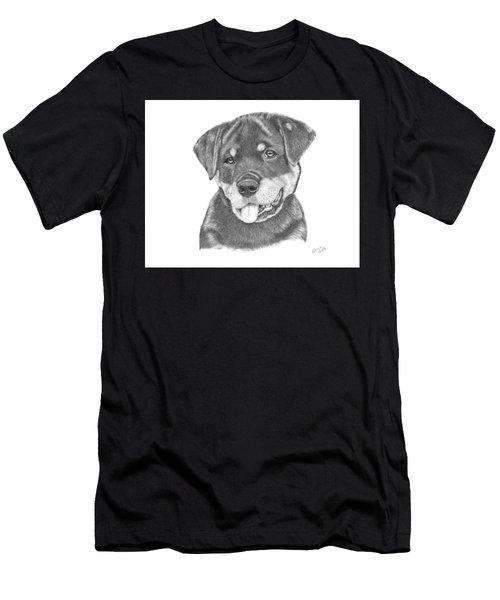 Rottweiler Puppy- Chloe Men's T-Shirt (Athletic Fit)