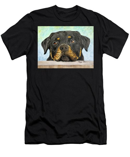 Rottweiler's Sweet Face 2 Men's T-Shirt (Athletic Fit)