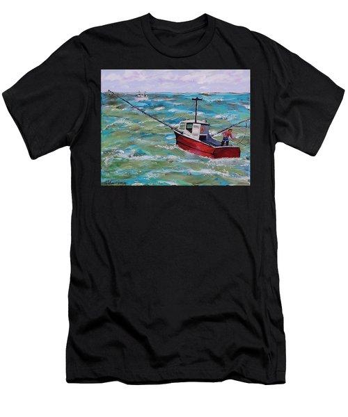 Rough Sea Men's T-Shirt (Athletic Fit)