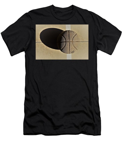Round Ball And Shadow Men's T-Shirt (Athletic Fit)