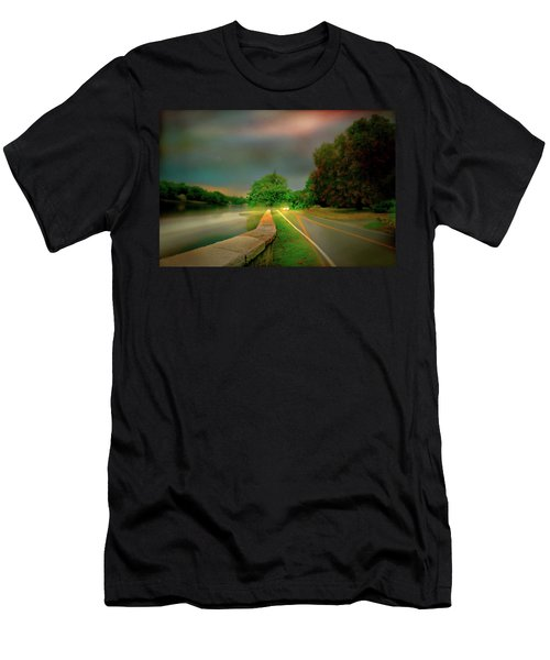 Men's T-Shirt (Slim Fit) featuring the photograph Round The Bend by Diana Angstadt