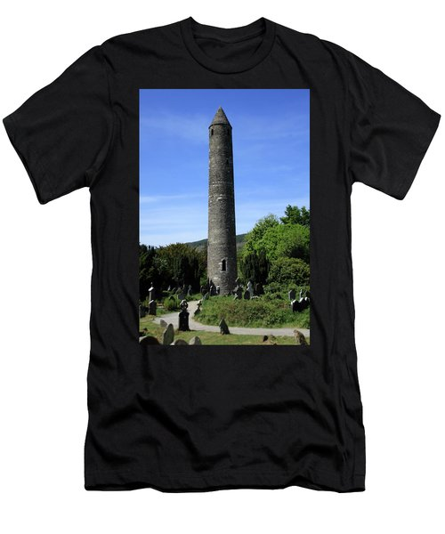 Round Tower At Glendalough Men's T-Shirt (Athletic Fit)