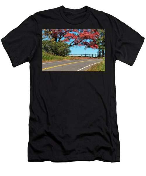 Men's T-Shirt (Athletic Fit) featuring the photograph Route 5 Color by Tom Singleton