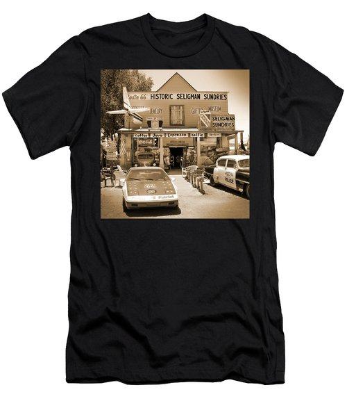 Route 66 - Historic Sundries Men's T-Shirt (Athletic Fit)