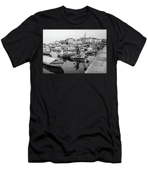 Rovinj Fisherman Working In Old Town Harbor - Rovinj, Istria, Croatia Men's T-Shirt (Athletic Fit)