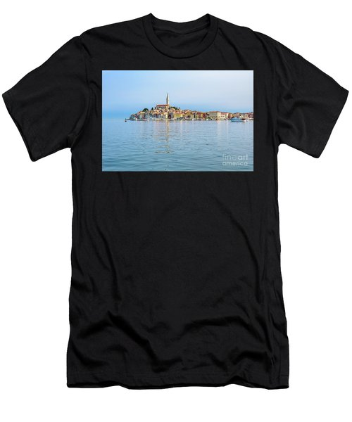 Rovinj In The Early Morning Fog, Istria, Croatia Men's T-Shirt (Athletic Fit)