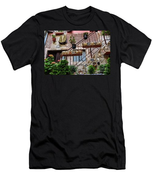 Rovinj Old Town Courtyard, Rovinj Croatia Men's T-Shirt (Athletic Fit)