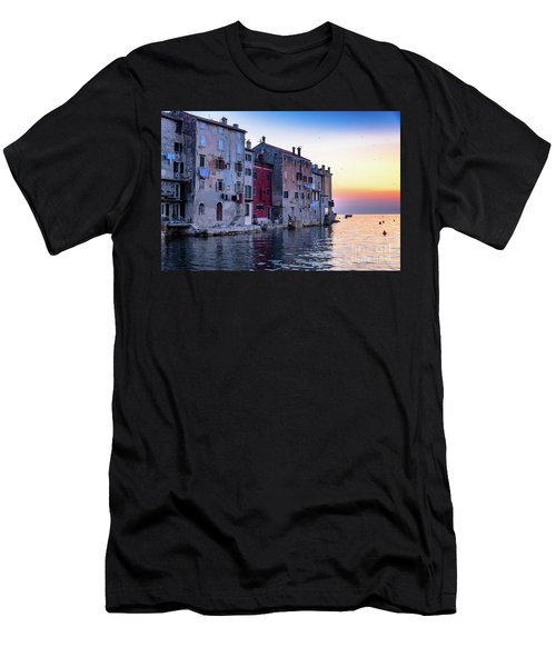 Rovinj Old Town On The Adriatic At Sunset Men's T-Shirt (Athletic Fit)
