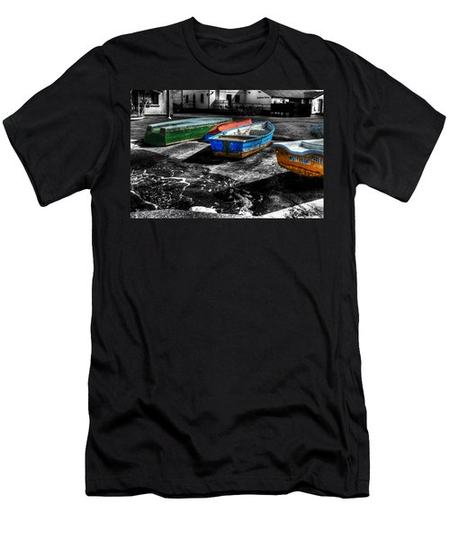 Row Boats At Mudeford Men's T-Shirt (Athletic Fit)