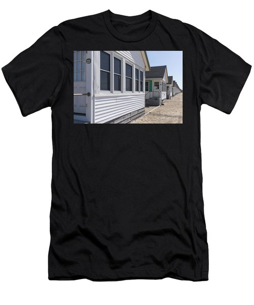 Row Of Identical Beach Cottages Men's T-Shirt (Athletic Fit)