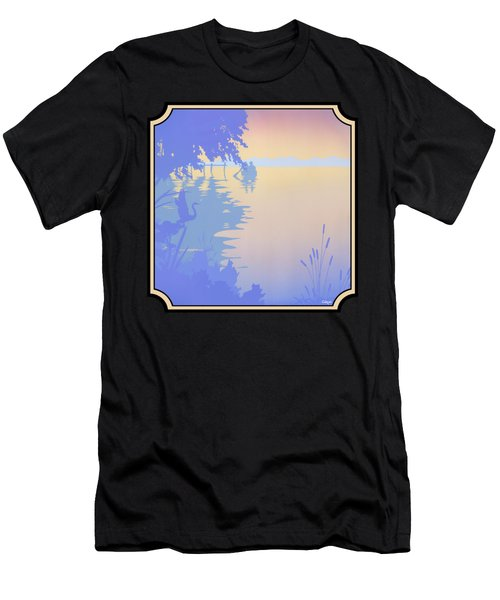 Rowing Back To The Boat Dock At Sunset Abstract Men's T-Shirt (Athletic Fit)