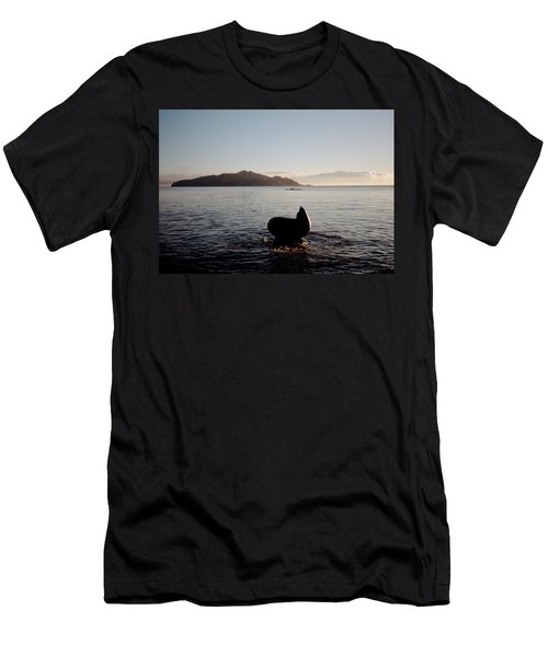 Men's T-Shirt (Athletic Fit) featuring the photograph Rowing Off Sausalito, Ca by Frank DiMarco