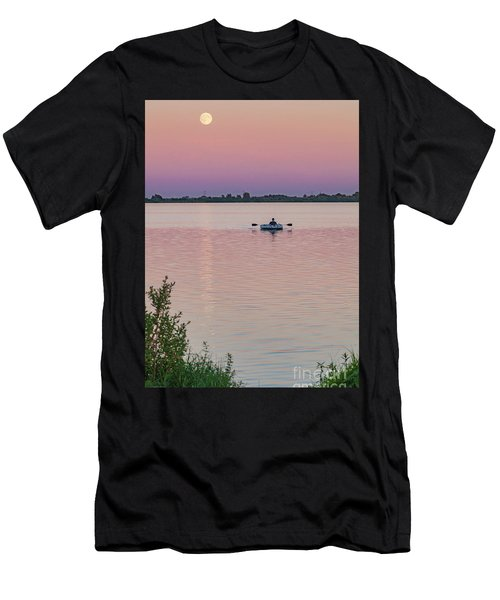 Rowing To The Moon Men's T-Shirt (Athletic Fit)