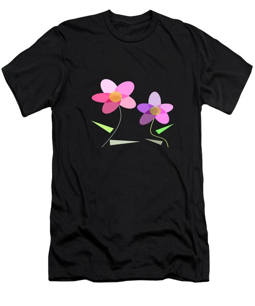 Rows Of Flowers Men's T-Shirt (Athletic Fit)