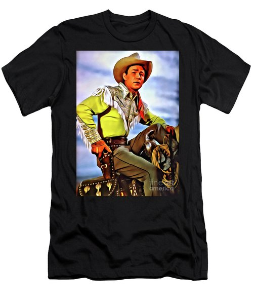 Roy Rogers, Hollywood Legend Men's T-Shirt (Athletic Fit)