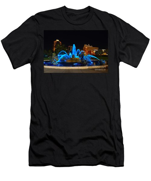 Royal Blue J. C. Nichols Fountain  Men's T-Shirt (Athletic Fit)
