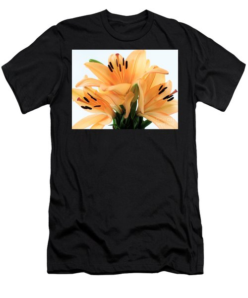 Men's T-Shirt (Slim Fit) featuring the photograph Royal Lilies Full Open - Close-up by Ray Shrewsberry
