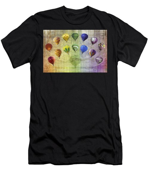 Men's T-Shirt (Athletic Fit) featuring the digital art Roygbiv Balloons by Melinda Ledsome
