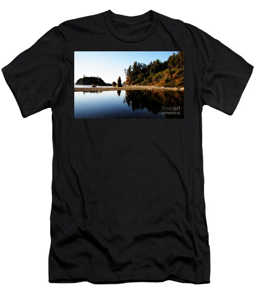Ruby Beach Reflections Men's T-Shirt (Athletic Fit)