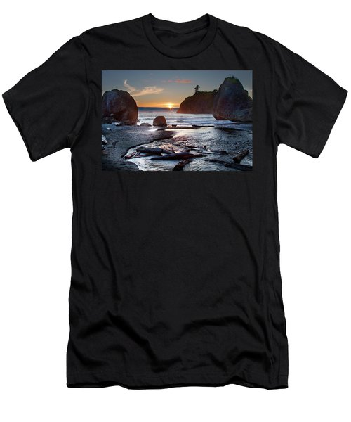 Ruby Beach #1 Men's T-Shirt (Athletic Fit)