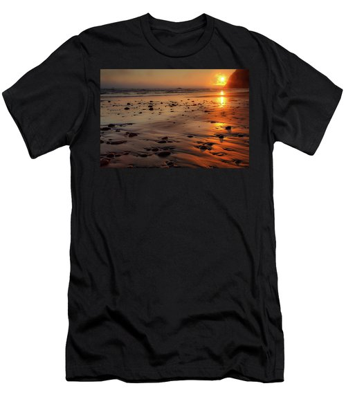Men's T-Shirt (Slim Fit) featuring the photograph Ruby Beach Sunset by David Chandler