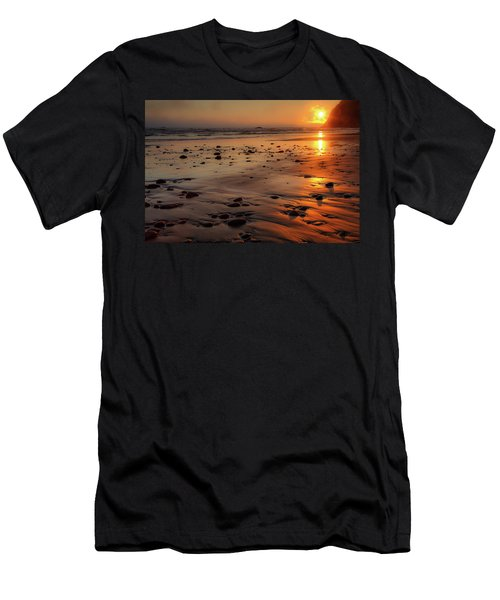 Ruby Beach Sunset Men's T-Shirt (Athletic Fit)