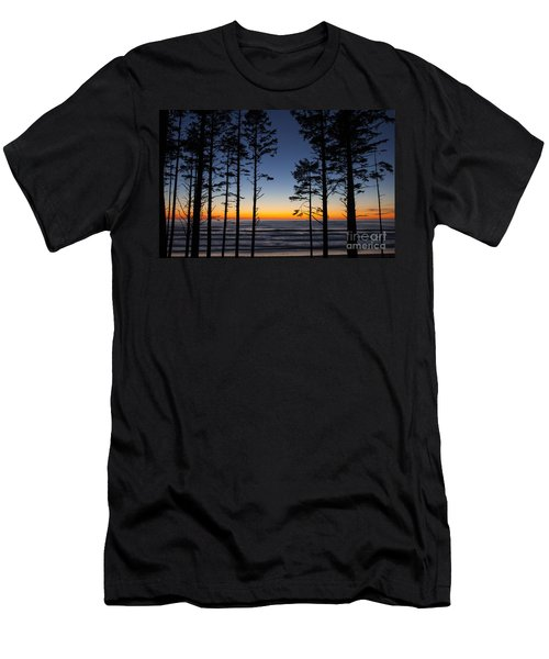 Ruby Beach Trees #4 Men's T-Shirt (Athletic Fit)
