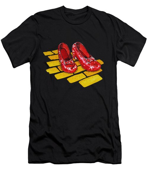 Ruby Slippers From Wizard Of Oz Men's T-Shirt (Slim Fit) by Irina Sztukowski