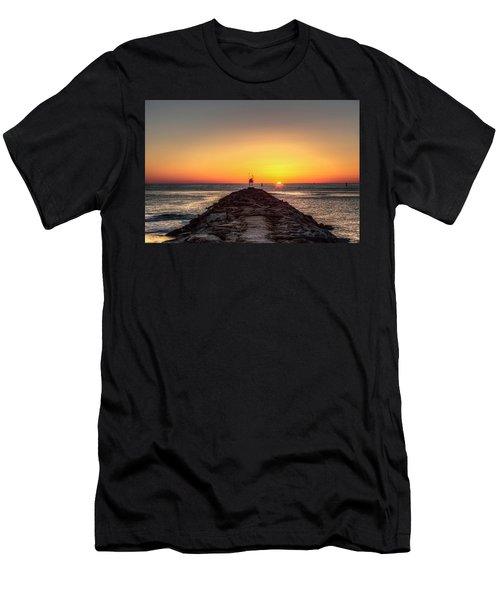 Rudee Inlet Jetty Men's T-Shirt (Athletic Fit)