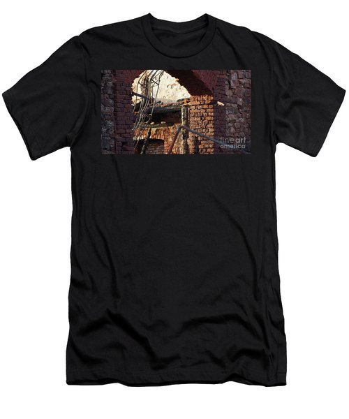 Ruin After Big Fire  Men's T-Shirt (Athletic Fit)